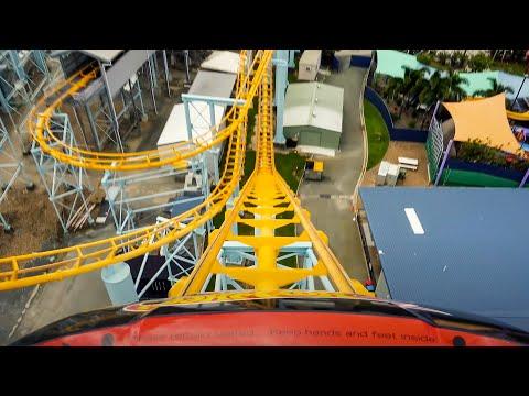 Hot Wheels Sidewinder POV - 4K - Dreamworld, Australia - Point of View