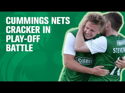 Hibees take big step towards survival thanks to Cummings' cracker