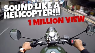 SOUND LIKE A HELICOPTER! | Royal Enfield Classic 500 Pure Sound & Test Ride #Motovlog (17)