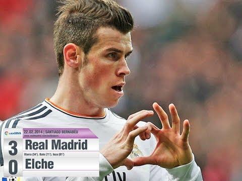Real Madrid 3 vs 0 Elche | Liga BBVA | 02 22 2014 | Gareth Bale Awesome Goal