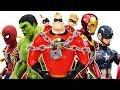 The Romeo Vs Incredbles, Avengers Go~! Thor, Hulkbuster, Iron Man, Spider Man, Hulk, Captain America