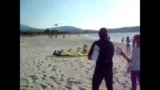 Superpasada del 43 en Playa de Aguieira