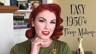 EASY 1950's Pinup Makeup