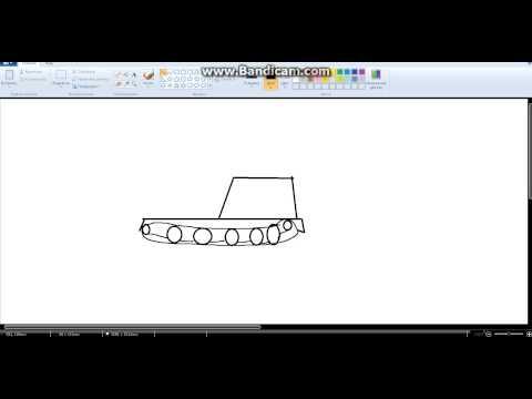 Видео как нарисовать немецкий танк