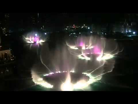 Burj Dubai Khalifa Fountain Time to Say Goodbye mp4