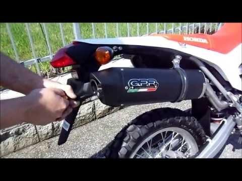 HONDA CRF 250 L 2013 SCARICO GPR EXHAUST SYSTEM HONDA CRF 250 L GPR POT ECHAPPEMENT - YouTube