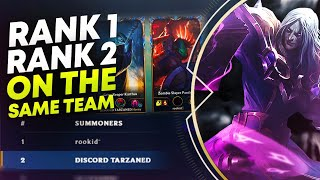 RANK 1 AND 2 ON THE SAME TEAM?! | League of Legends