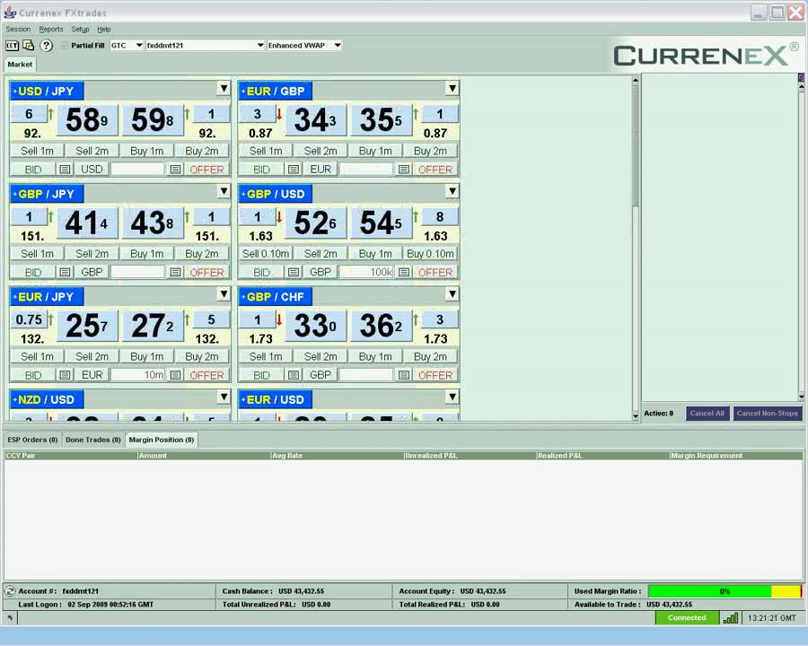 Broker with currenex platform