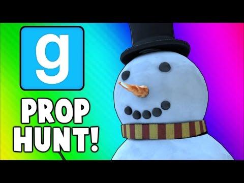 Gmod Prop Hunt Funny Moments - Santa Tit Trick Shot, 21 Questions, Epic Body Launches! (Garry's Mod)