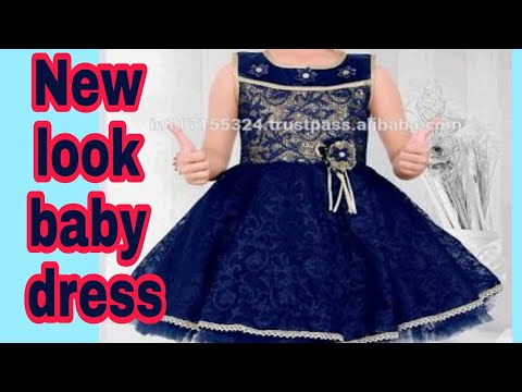 Net designer baby dress cutting stitching tutorial easy method