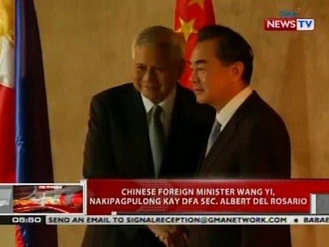 QRT: Chinese FM Wang Yi, nakipagpulong kay DFA Sec. Albert del Rosario