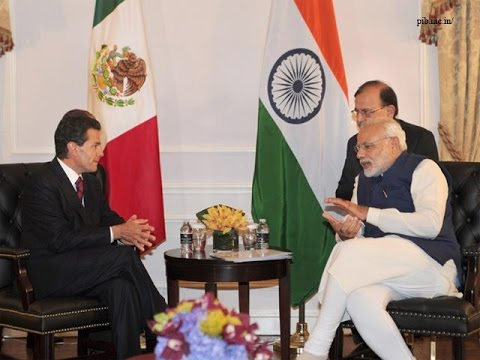 PM Modi meets the President of Mexico Enrique Pena Nieto in New York
