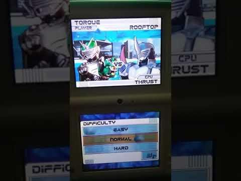 Kamen Rider Dragon Knight For The Nintendo DS Kamen Rider Torque VS Kamen Rider Thrust