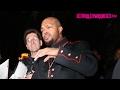 DJ Paul Of Three 6 Mafia Speaks On His Oscar & Clowns A Fan At The GQ Mag Grammy Party 2.12.17