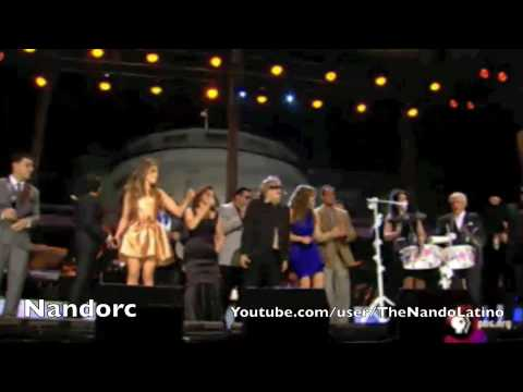 Thalia, Gloria Estefan, Jennifer Lopez, Marc Anthony, Aventura Obama at The White House