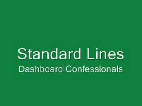 Dashboard Confessional - Standard Lines