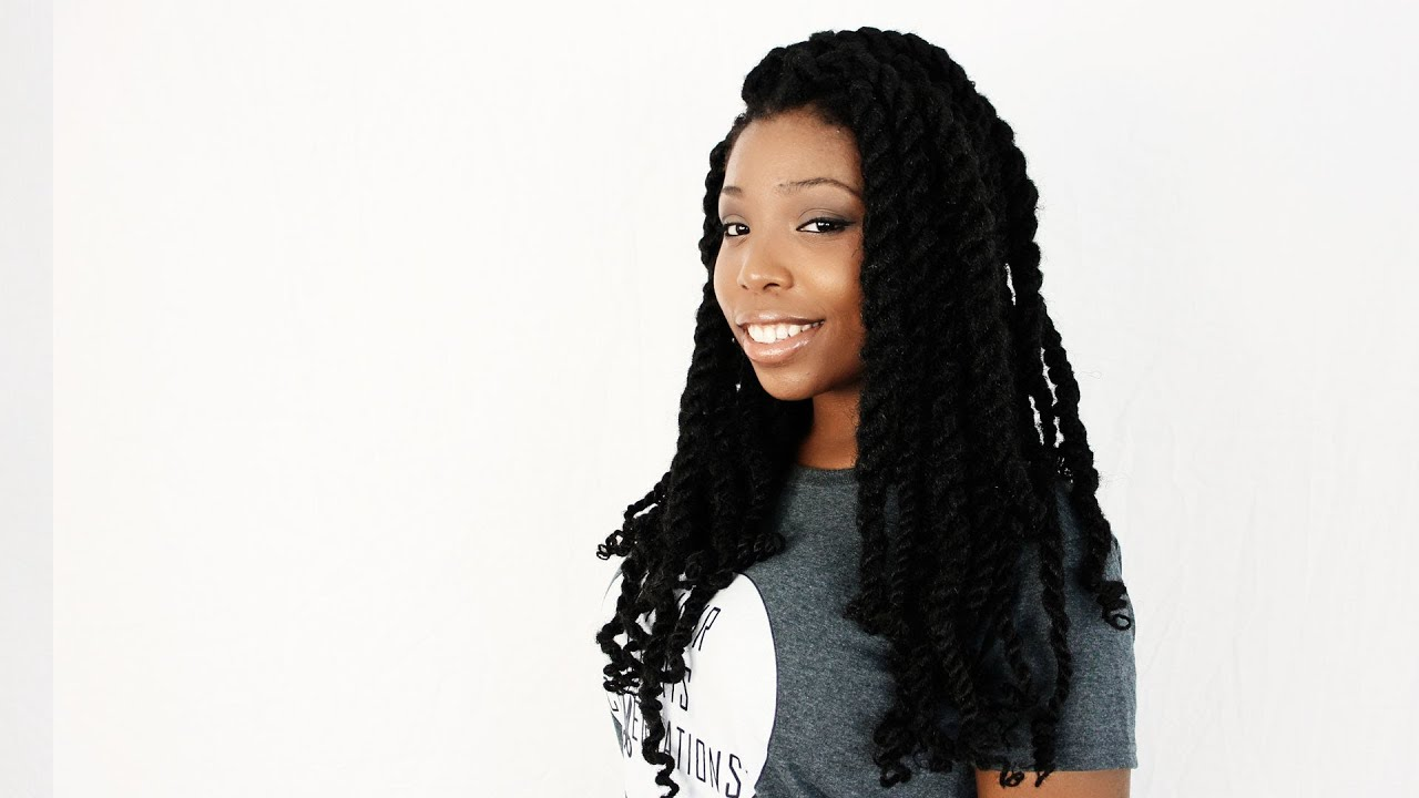 How To Curl The Ends Of Havana Twist Hair Tutorial Part 5