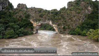 Ardèche - Crue du 19 Septembre 2014 (compilation) (4K)
