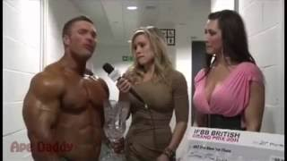 Excited Reporter Fail During Interview With Hot Muscled Guy