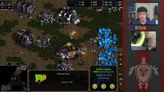 StarCraft Remastered - Artosis 2/1 Timing Practice (Replay Analysis)