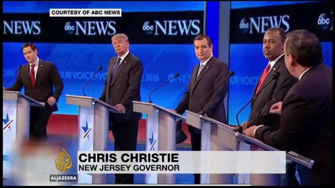 US Republican candidate under fire in debate