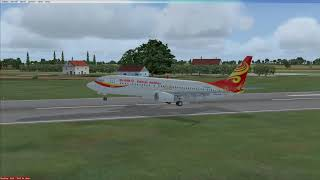 Microsoft Flight Simulator X Hainan Airline Boeing 737-800 Super Soft Landing