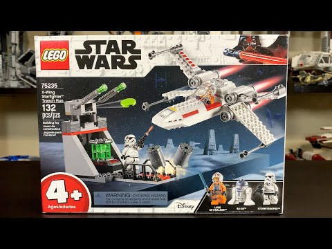 LEGO Star Wars 2019 X-Wing Starfighter Trench Run Review! Set 75235!