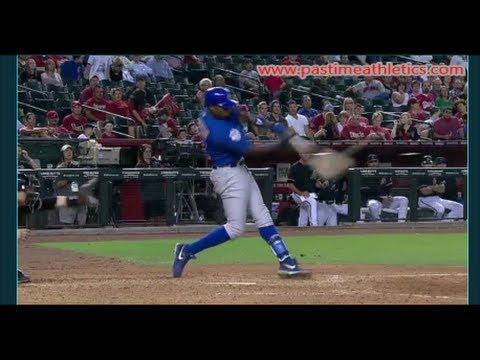 Alfonso Soriano Slow Motion Home Run Baseball Swing - Hitting Mechanics Chicago Cubs MLB