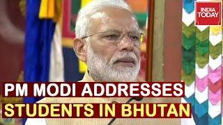 Watch PM Modi Addresses Royal University Students In Bhutan