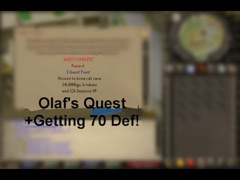 Questing In Oldschool Runescape: Olaf's Quest