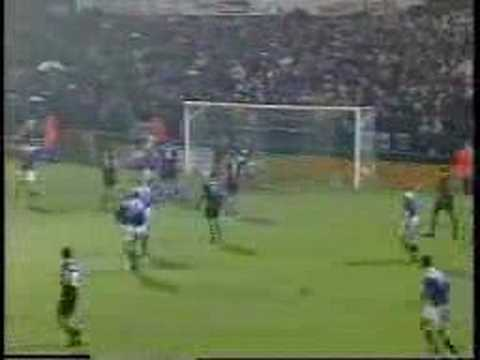 Iain Dowie, football genius! 18th December 1996, League Cup 4th round, Edgeley Park, Stockport.