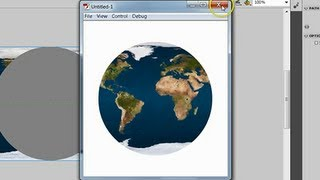 How to create rotating earth in adobe flash