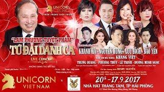 Liveshow Lam Phương Tuyệt Phẩm - Tứ Đại Danh Ca - Liveshow Nhạc Trữ Tình Hải Ngoại Hay Nhất