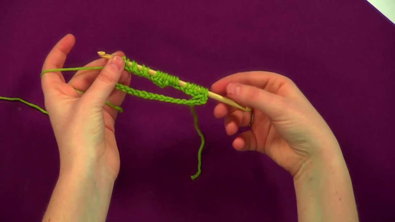 Double Knitting In The Round Youtube : How to tunisian double ended crochet in the round youtube