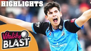 Worcestershire Reach First Final | Worcestershire v Lancashire | Vitality Blast 2018 - Highlights