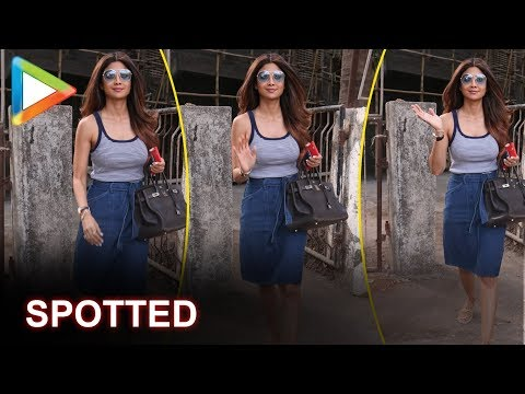 Shilpa Shetty SPOTTED outside a salon in Juhu