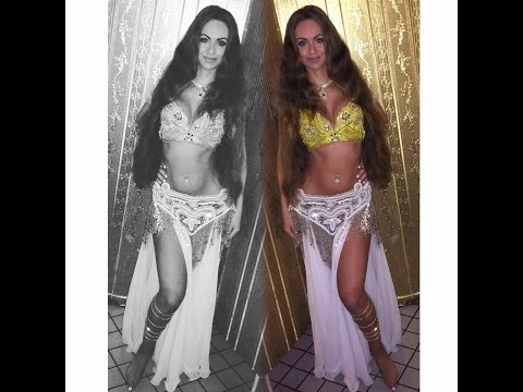 Belly Dancer Isabella Performance In Hookah Lounge | HD