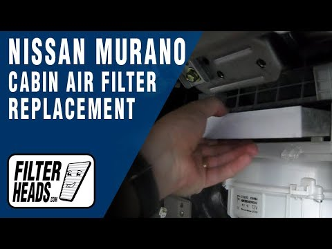 Cabin air filter replacement- Nissan Murano