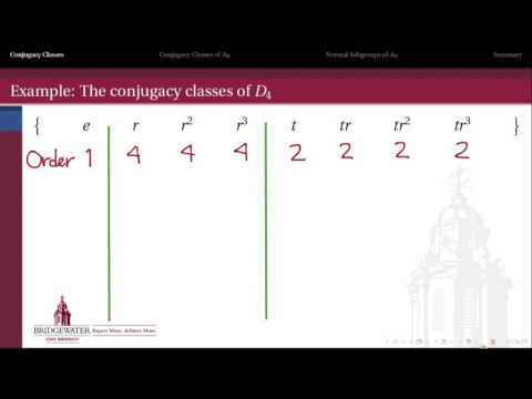 302.6B: Conjugacy in Groups