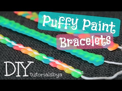 DIY Fabric/Puffy Paint Bracelet Tutorial   TutorialsByA