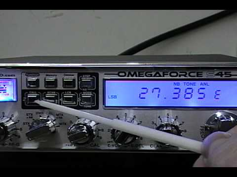 Magnum OmegaForce S-45 HP (High Power) 10 Meter CB Radio Overview Part 1