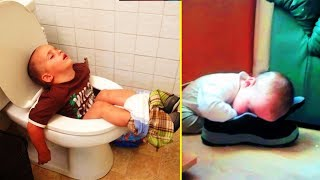 Hilarious Pics That Prove Kids Can Sleep Anywhere 「 funny photos 」