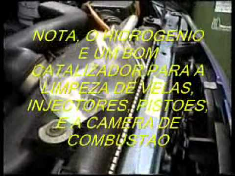 CARRO MOVIDO A GASOLINA  E AGUA TRANSFORMADA EM HIDROGENIO.wmv