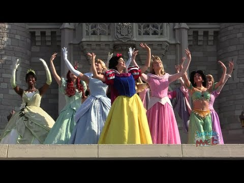 All 11 Disney Princess gathering for the first time for Merida s coronation at Walt Disney World