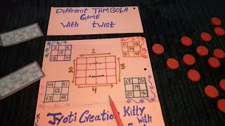 DIFFERENT TAMBOLA GAME with twist (by Jyoti creation kitty with fun)