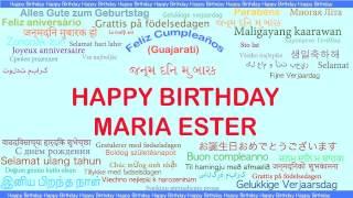 MariaEster   Languages Idiomas - Happy Birthday