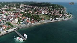 Nova orla de Mar Grande voo com drone antes e depois