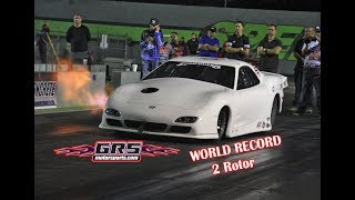 !! New World Record 13B Quiles Turbo - 6.34 @ 217 MPH / .97 en los 60' @ Orlando