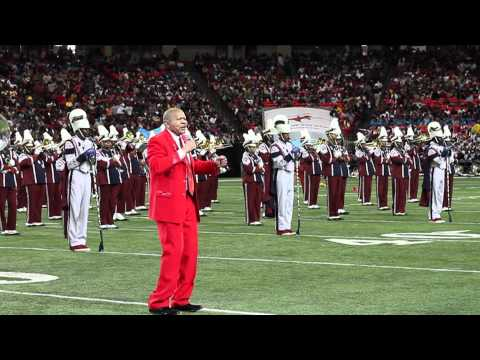 "THE SOUTH CAROLINA STATE UNIVERSITY MARCHING BAND BRINGS OUT THE LEGENDARY LENNY WILLIAMS TO PERFORM HIS CLASSIC ""CAUSE I LOVE YOU"" @ THE HONDA 2012 BATTLE O..."