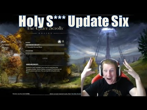 Update 6 reactions and review for The Elder Scrolls Online